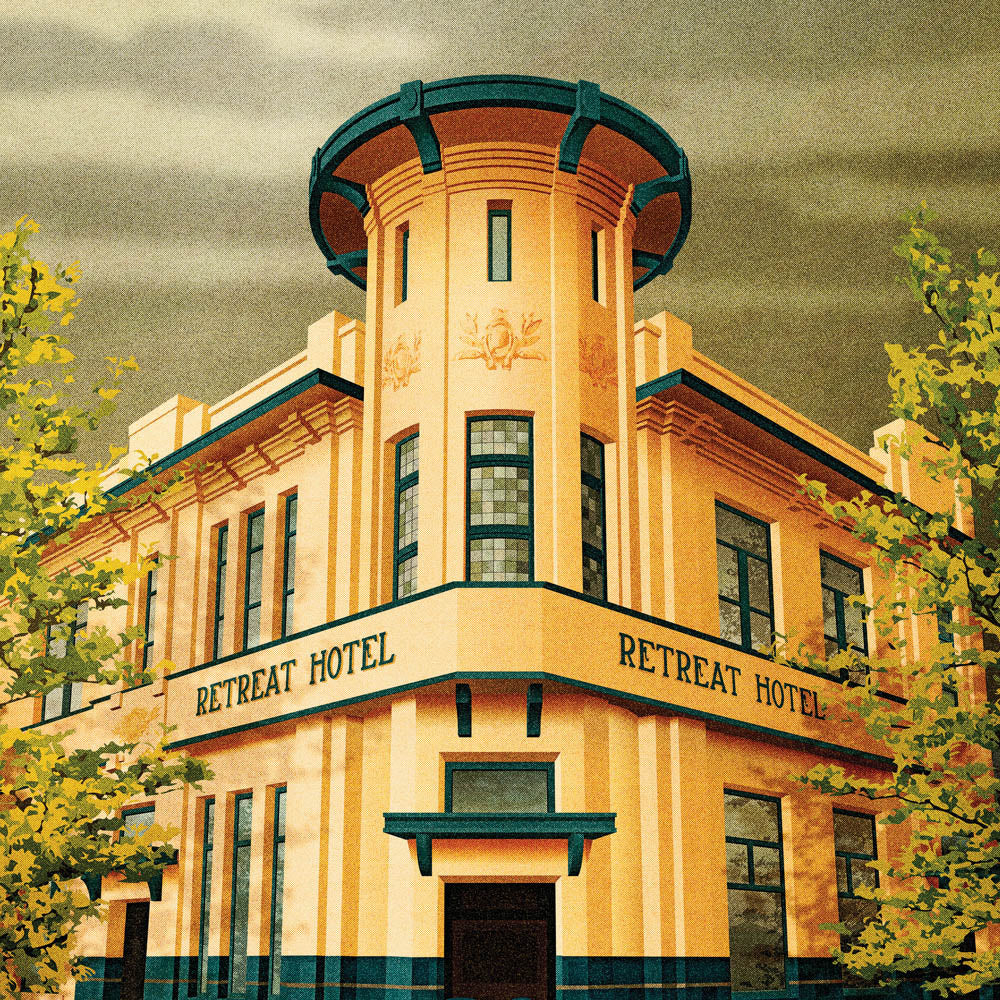 The Retreat Hotel, Abbotsford colour print close up by Harper and Charlie