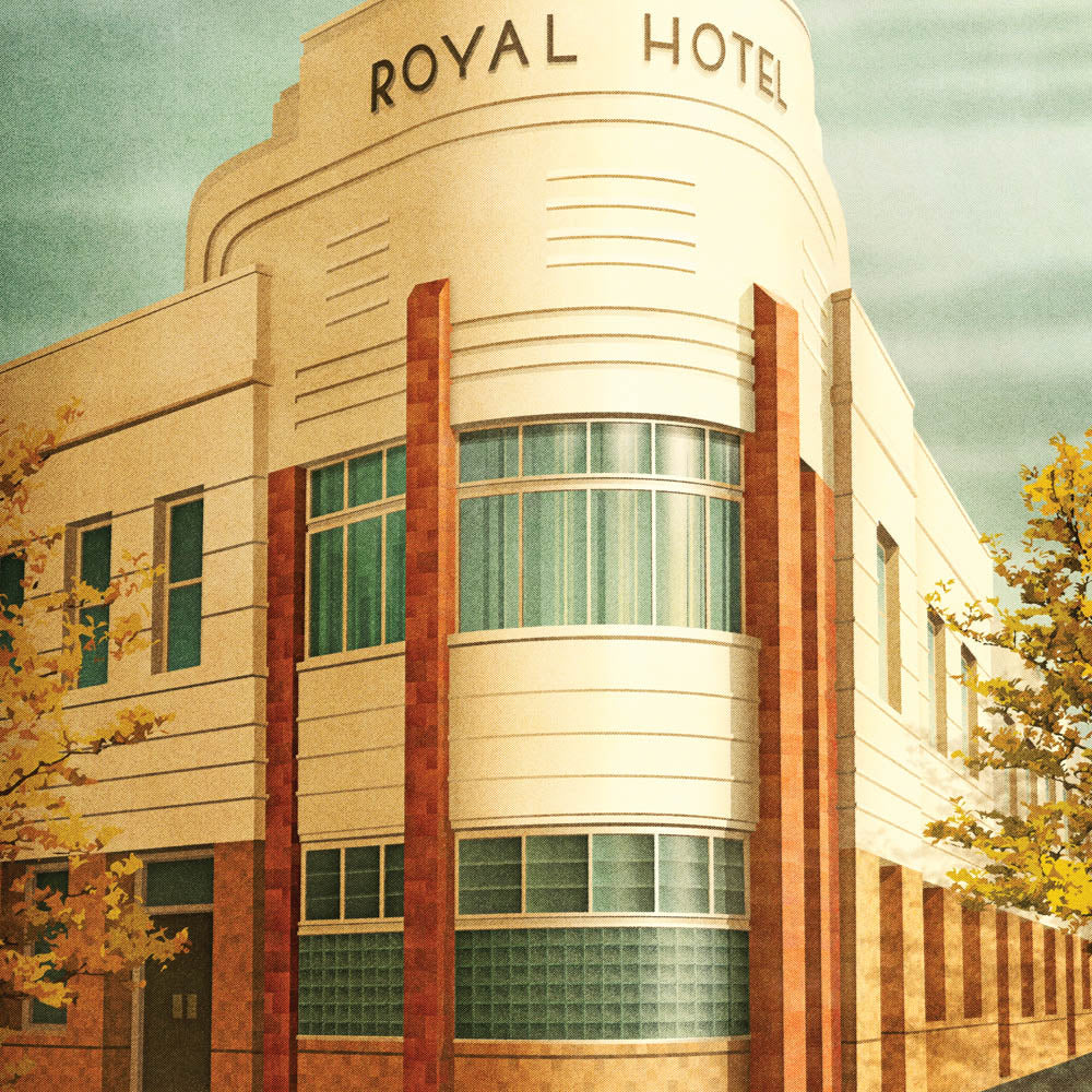 The Royal Hotel Footscray colour print close up by Harper and Charlie