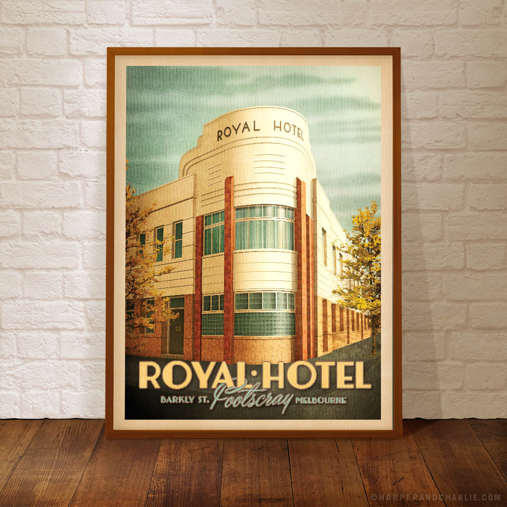 The Royal Hotel, Footscray framed colour print framed by Harper and Charlie