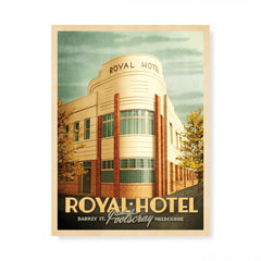 The Royal Hotel, Footscray colour print by Harper and Charlie