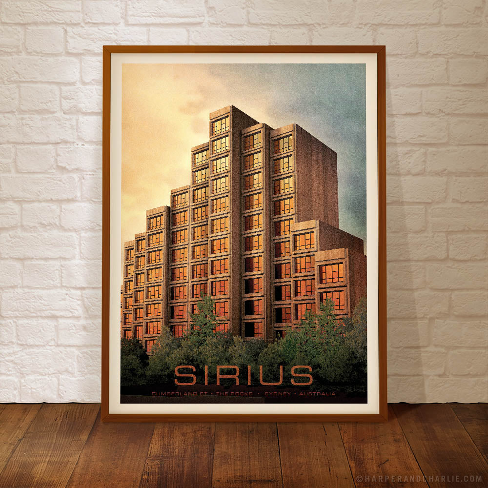 Sirius Building Sydney colour poster