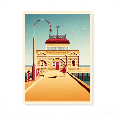 Beach Boxes, Mornington Peninsula Colour Print