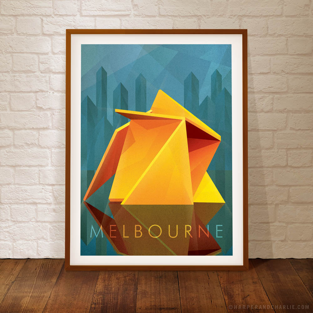 Vault Melbourne framed colour poster