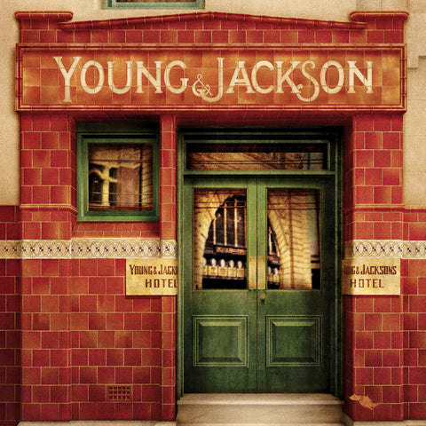 Young & Jackson Hotel Melbourne colour print close up