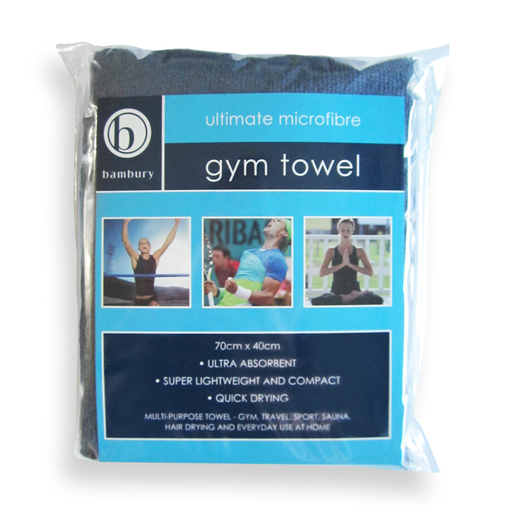 Gym Towel Navy Bambury