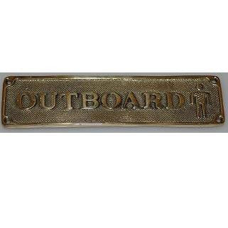 "Brass Sign ""Outboard"""