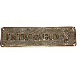 "Brass Sign ""Inboard"""