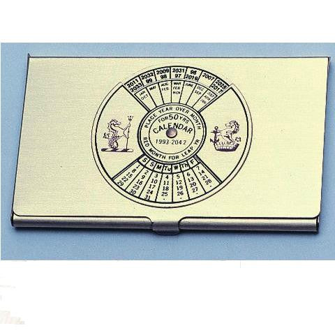 Business Card Case 50yrs Calendar