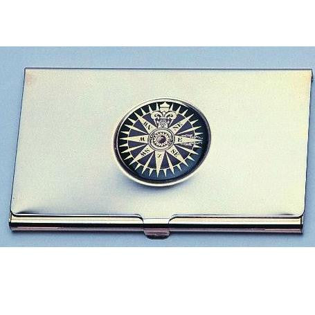 Business Card Case Compass Rose