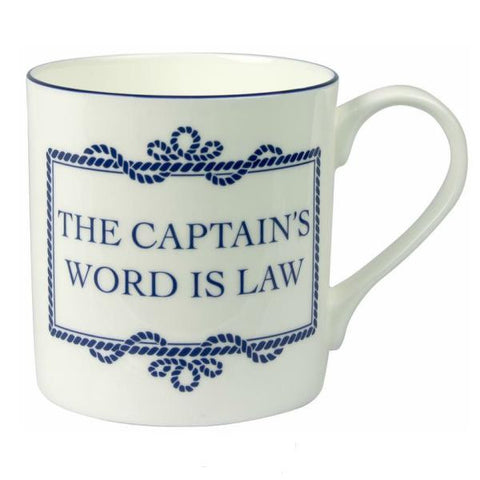 "Mug ""The Captains Word Is Law"""
