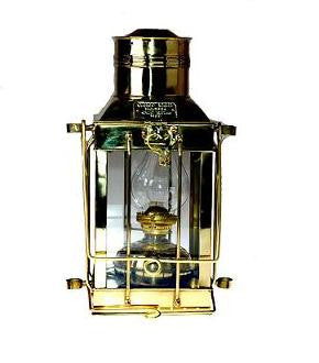 "Brass Cargo Lamp 15"" Oil"