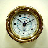 Brass Screwface Tide/Time Clock 4.5""