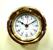 Brass Screwface Clock 4.5""