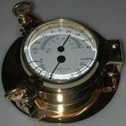 Brass Porthole Thermo/Hygro 5.5""