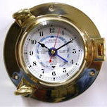 Brass Porthole Tide/Time Clock 5.5""