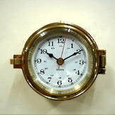 Brass Latch Clock 5""