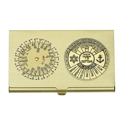 Business Card Case 40yrs Calendar & Worldtime