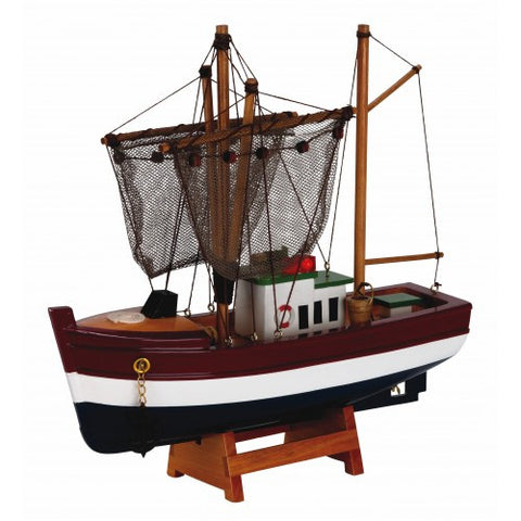 Model Boat - Trawler Red White & Blue 25cm