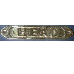 "Brass sign ""Head"""