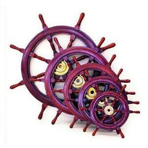 Ship's Wooden Wheel 12""