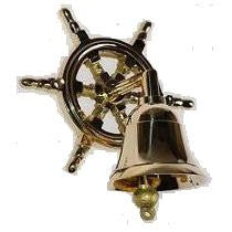 Brass Bell on Wheel 2.5""