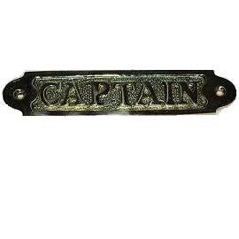 "Brass Sign ""Captain"""