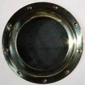 Brass Non Opening Porthole Mirror