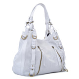 Joelle Hawkens Erin Tote Ice Leather Side Angle