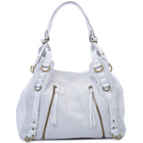 Joelle Hawkens Erin Tote Ice Leather Front