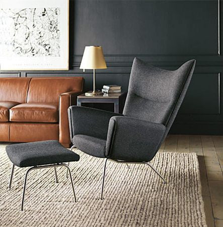 Beautiful TR40020 Hans Wegner Style CH445 Wing Chair And Ottoman
