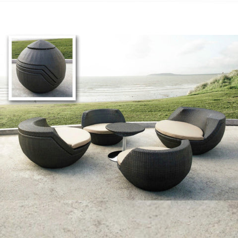 TR10003 5 piece GOLF stackable synthetic Outdoor Rattan Furniture