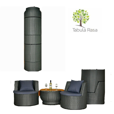 TR10006 4 Seater BOTTLE Synthetic Rattan Outdoor Furniture Set