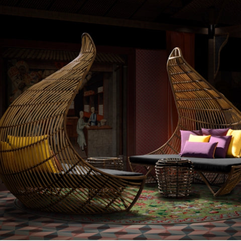 TR10008 Cleopatra Rattan Daybed