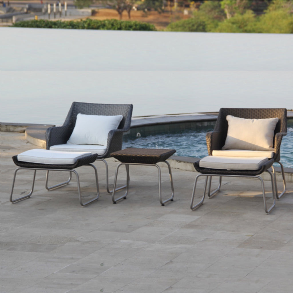 TR12005 Chandon Outdoor Lounge Chair & Ottoman