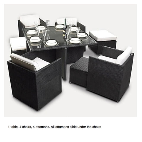 TR13012 BOXIE 6 Seater Space Saver Dining Set