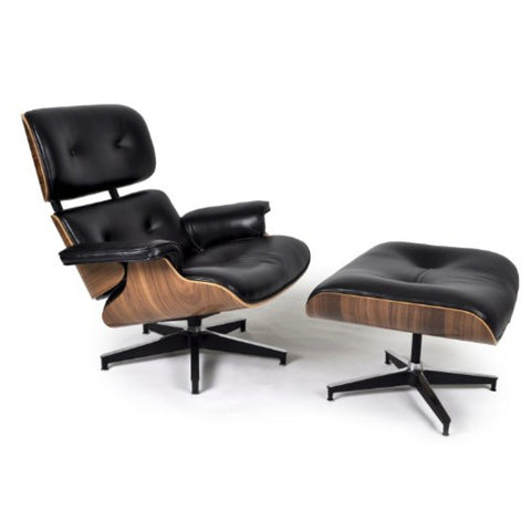 TR40006 Ray & Charles Eames Style Classic Lounge Chair & Ottoman