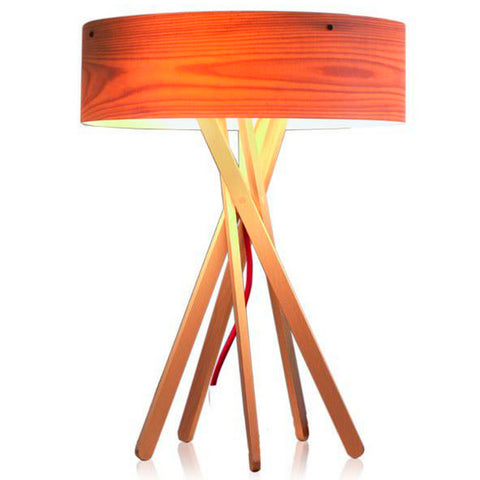 TR81002 Multi-leg Nordic Style Wood Table Lamp With Wood Drum Shade
