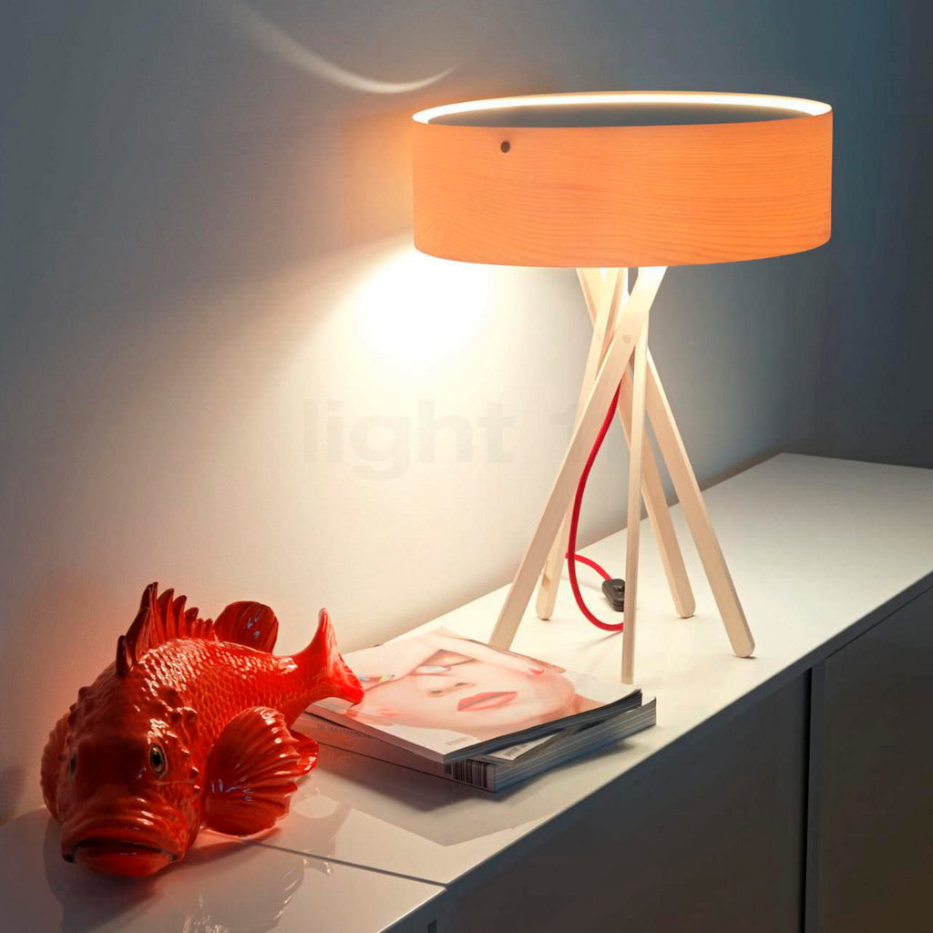 Tr81002 Multi Leg Nordic Style Wood Table Lamp With Wood