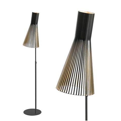 TR82002 Wooden Scandivanian Oyster Floor Lamp