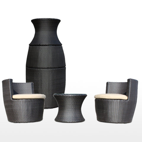 TR10001 2 Seater CARAFE Synthetic Rattan Outdoor Furniture Set