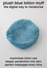Plush Blue Lotion Mitt