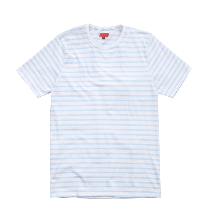 Standard Striped Essential S/S - Light Blue/White