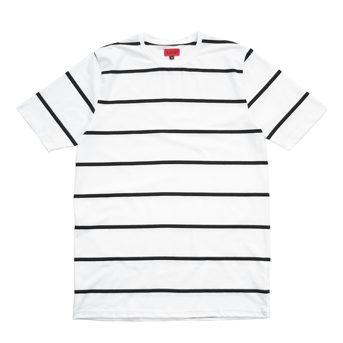 Wide Stripe S/S Tee - White