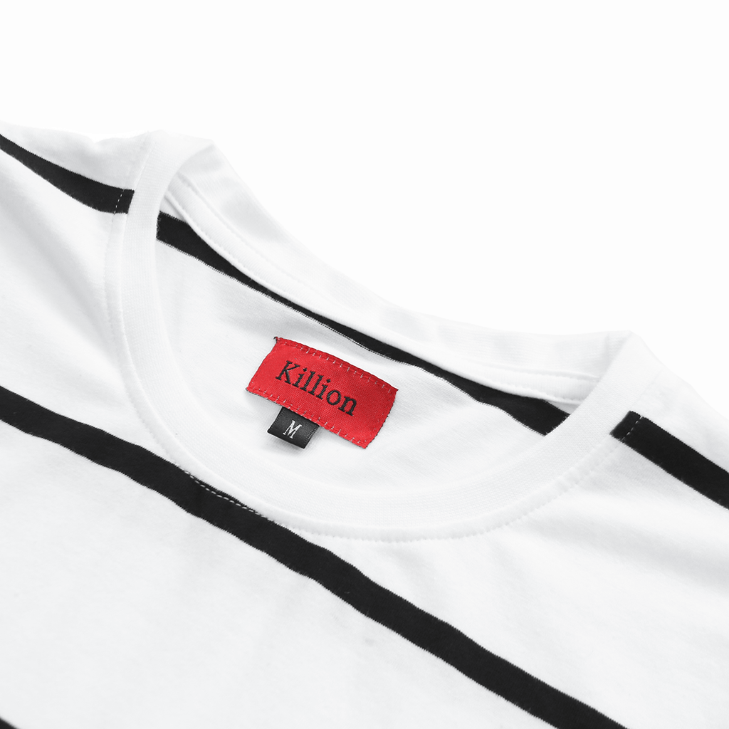 Wide Stripe S/S Tee - White (06.23.20) Release)