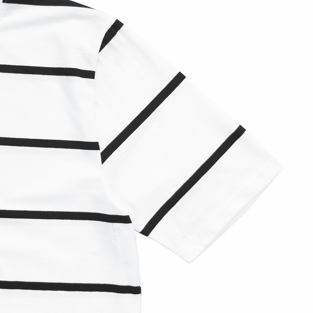 Wide Stripe S/S Tee - White (01.28.21 Release)