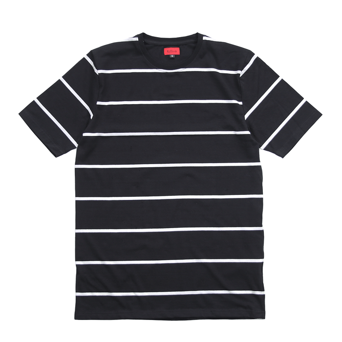 Wide Stripe S/S Tee - Black