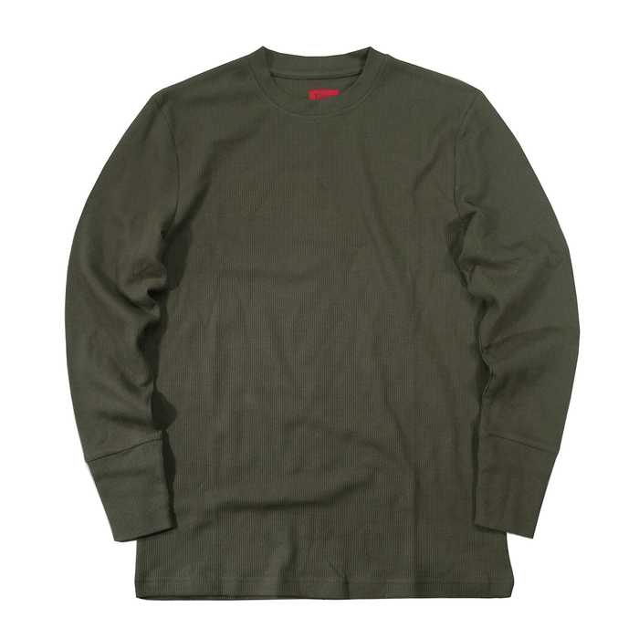 Waffle Knit Long Sleeve - Olive (02.02.21 Release)