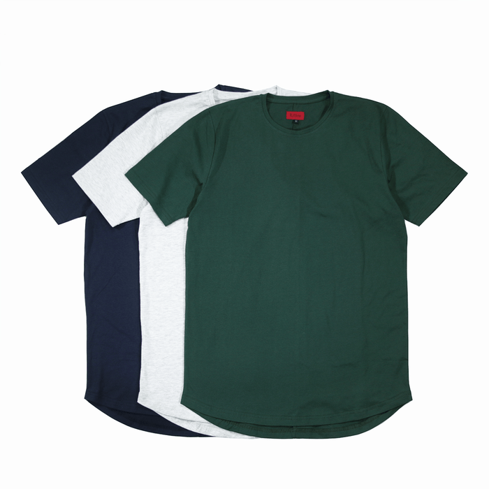 3-Pack SI-12 Essential - Forest Green/Light Heather/Navy