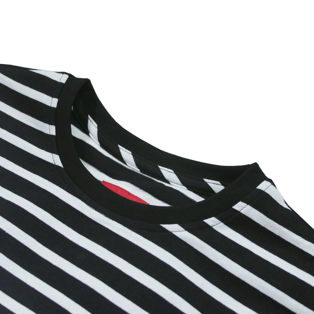 Standard Striped L/S Essential - Black/White
