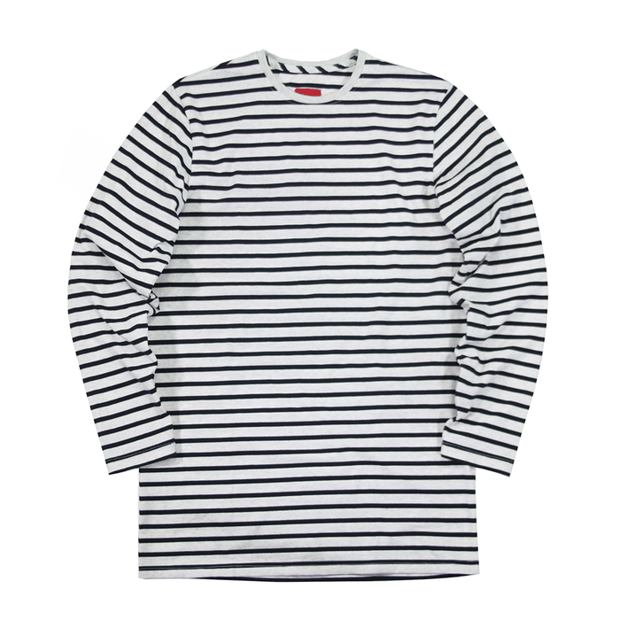Standard Striped L/S Essential - Cream/Navy
